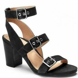 Vionic Orthaheel Block-Heel Leather Sandals NWOT